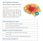 Checklist for Using Hot Cognition to Design Learning