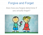 Academic Research: Forgive and Forget