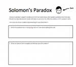 Solomon's Paradox Worksheet