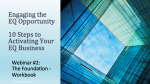Engaging the EQ Opportunity: Webinar 2 Workbook